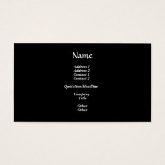White Daisy Flowers Business Card