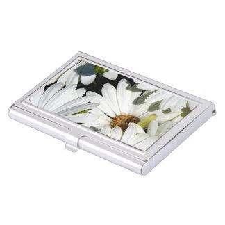 White Daisy Flowers Business Card Holder