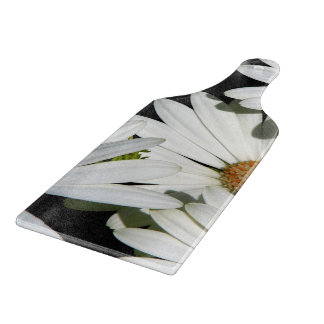 White Daisy Flowers Cutting Board