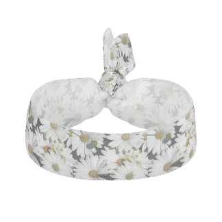 White Daisy Flowers Hair Tie