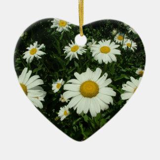white daisy flowers happy birthday ceramic ornament