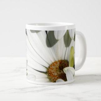 White Daisy Flowers Large Coffee Mug