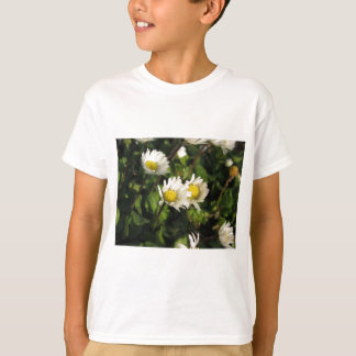 White daisy flowers on green background T-Shirt