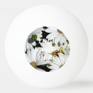White Daisy Flowers Ping Pong Ball