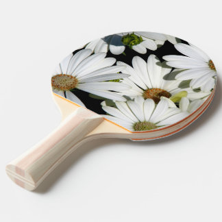 White Daisy Flowers Ping Pong Paddle