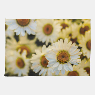 White Daisy Kitchen Towel