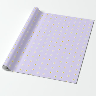 white daisy pattern wrapping paper