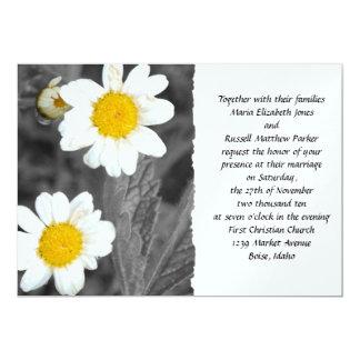 White Daisy Wedding Card