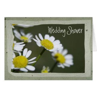 White Daisy Wedding Shower Invitation