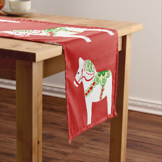 White Dala Horse Table Runner
