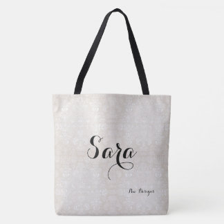 White-Damask_Bridal-Favor_Totes-Bags_Multi-Sz Tote Bag