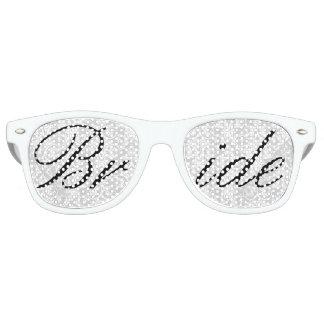 White Damask Bride Fun Bachelorette Party Glasses Party Sunglasses
