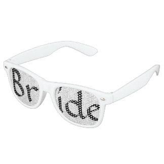 White Damask Bride Fun Bachelorette Party Glasses Party Shades