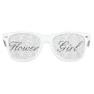 White Damask Flower Girl Sunglasses