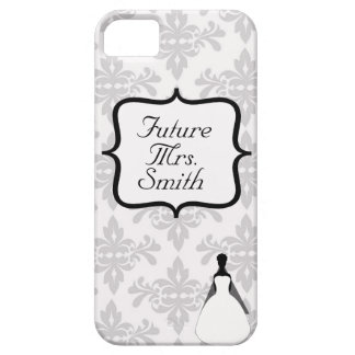 White Damask Future Mrs. iPhone 5 Case
