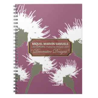 White Dandelion Decorative Modern Notebook