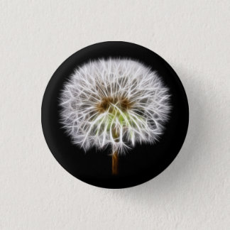 White Dandelion Flower Plant 1 Inch Round Button