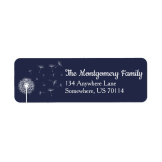 White Dandelion Wildflower & Navy Family