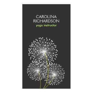 WHITE DANDELIONS YOGA TEACHER, YOGA INSTRUCTOR PACK OF STANDARD BUSINESS CARDS