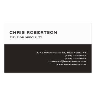 White Dark Beige Modern Simple Plain Business Card