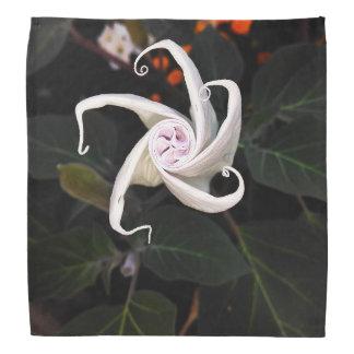 White Datura Flower Bud Bandana