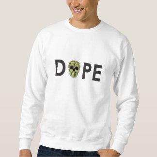 White Decorative Skull Crewneck Sweatshirt