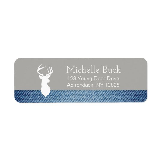 White Deer Buck Customized Address Labels