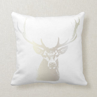 White Deer head | Holiday Throw Pillow