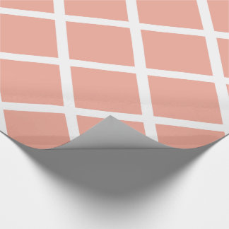 White Diagonal Lattice Stripes on Jewelry Box Pink Wrapping Paper