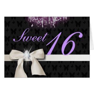 White Diamond Bow Sweet 16 Card
