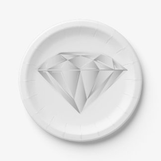 White Diamond for my sweetheart 7 Inch Paper Plate