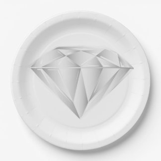 White Diamond for my sweetheart 9 Inch Paper Plate