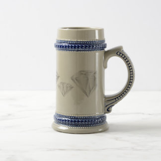 White Diamond for my sweetheart Beer Stein