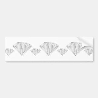 White Diamond for my sweetheart Bumper Sticker
