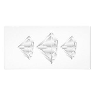 White Diamond for my sweetheart Custom Photo Card