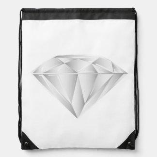 White Diamond for my sweetheart Drawstring Bag