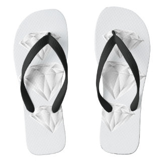 White Diamond for my sweetheart Flip Flops