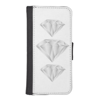 White Diamond for my sweetheart iPhone SE/5/5s Wallet Case