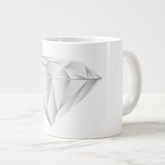 White Diamond for my sweetheart Large Coffee Mug