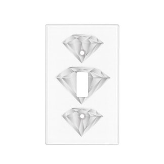 White Diamond for my sweetheart Light Switch Cover