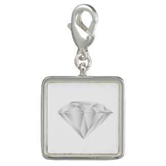 White Diamond for my sweetheart Photo Charms