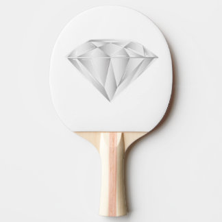White Diamond for my sweetheart Ping Pong Paddle