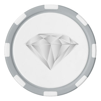 White Diamond for my sweetheart Poker Chips