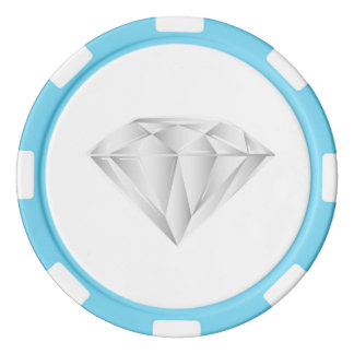 White Diamond for my sweetheart Poker Chips Set