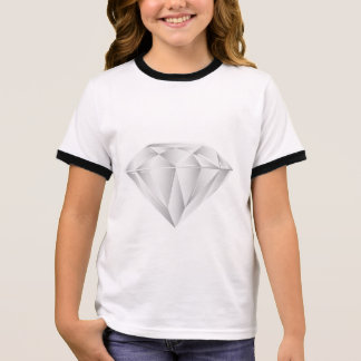 White Diamond for my sweetheart Ringer T-Shirt