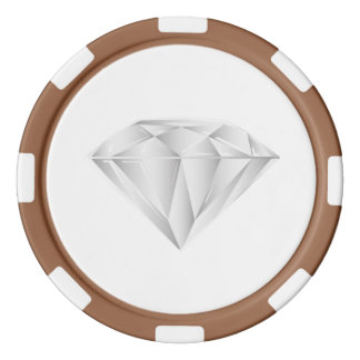White Diamond for my sweetheart Set Of Poker Chips