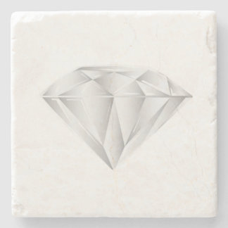 White Diamond for my sweetheart Stone Coaster