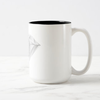 White Diamond for my sweetheart Two-Tone Coffee Mug