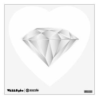 White Diamond for my sweetheart Wall Decal
