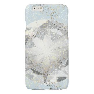 White Diamond on Light Pastel Blue Sparkle